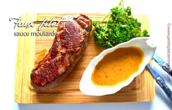 Faux-filet sauce moutarde