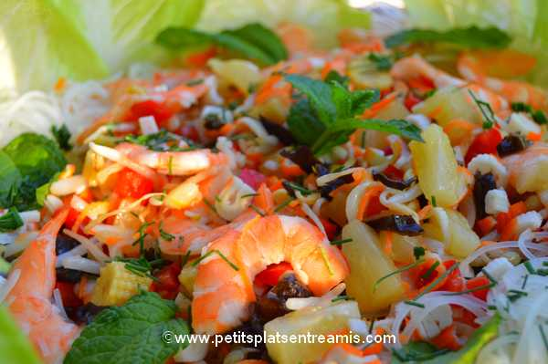 idée de salade-de-soja-et-crevettes
