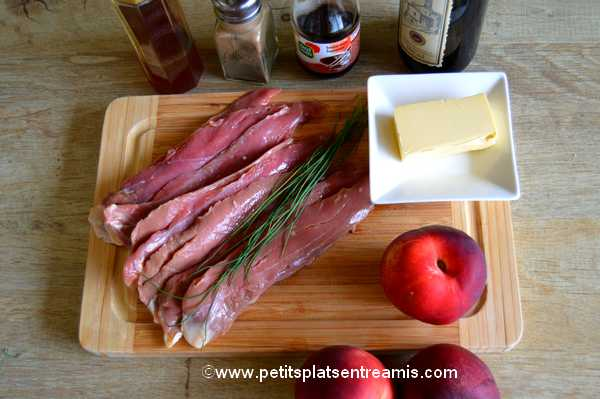 ingrédients aiguillettes-de-canard-aux-nectarines