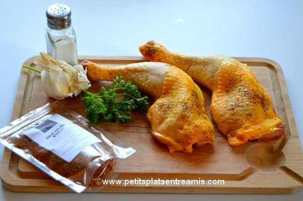 ingrédients cuisses de poulet  grillées aux épices