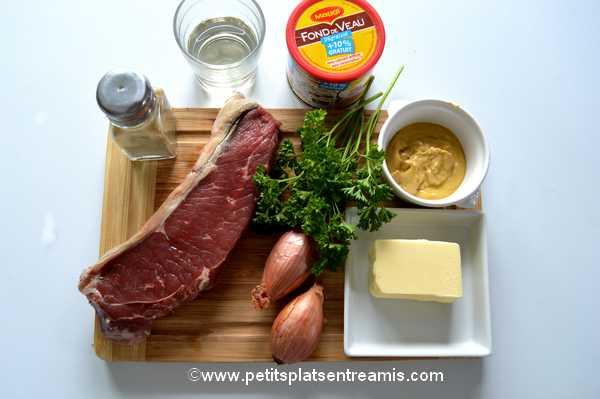 ingrédients faux-filet sauce moutarde