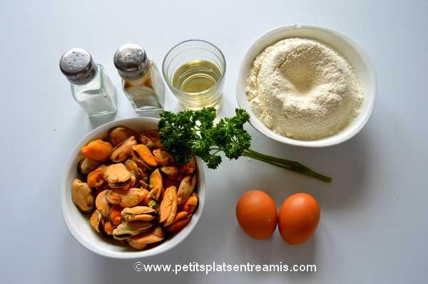 ingrédients pour beignets de moules