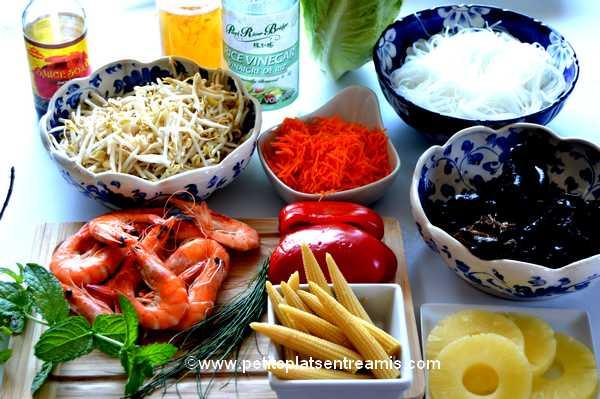 ingrédients salade-de-soja-et-crevettes