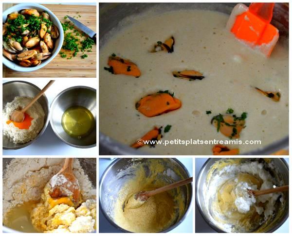 préparation beignets de moules