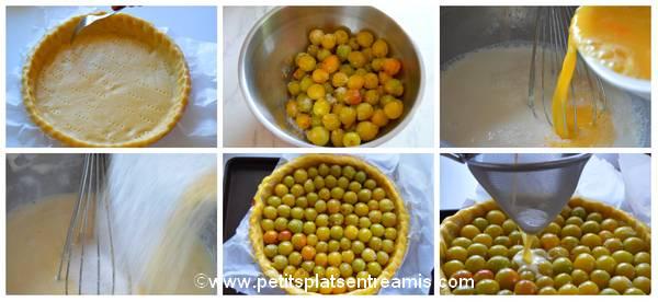 préparation tarte aux mirabelles