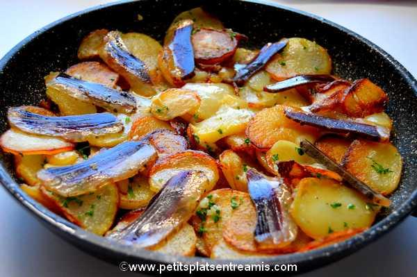 recette Pommes de terre sarladaises au magret de canard séché