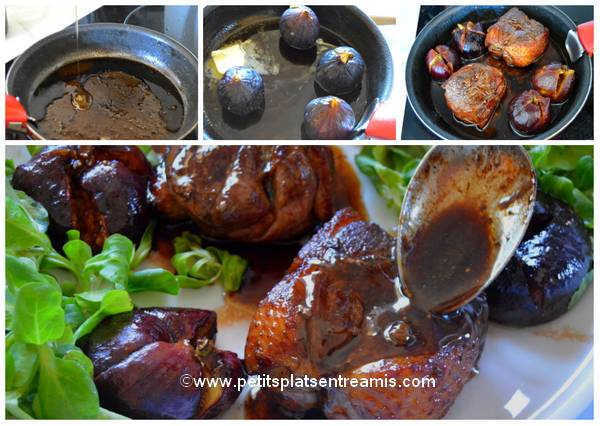 cuisson des figues pour tournedos de canard