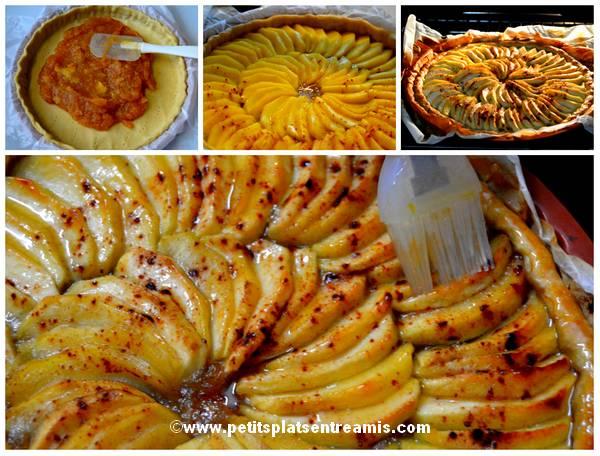cuisson tarte aux pommes à la cannelle