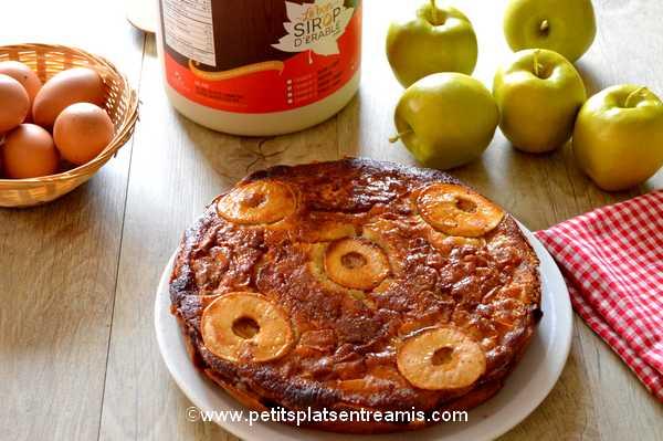 gâteau aux pommes et sirop d'érable recette