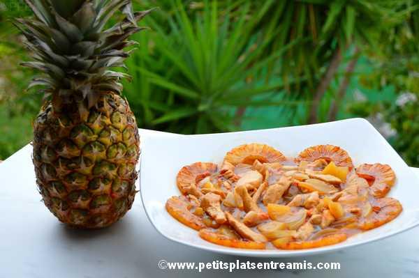 poulet à l'ananas recette