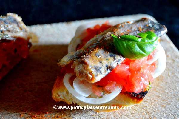recette tapas de sardines à l'huile