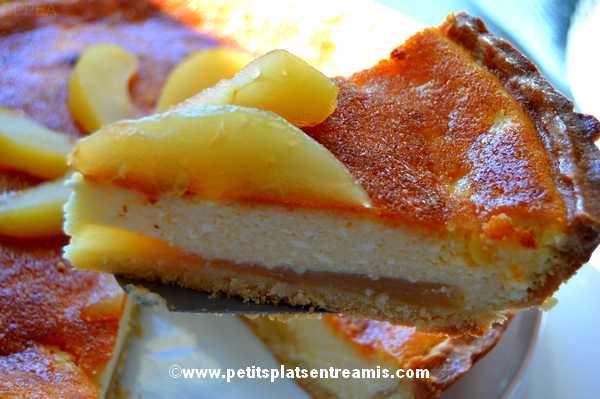 recette tarte-au-fromage-blanc-poires-et-sirop-d'érable