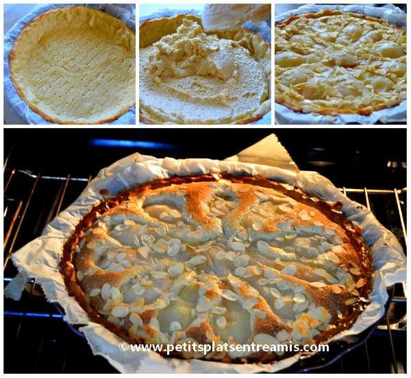 cuisson de la tarte amandine aux poires
