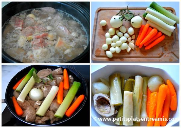 cuisson veau et légumes