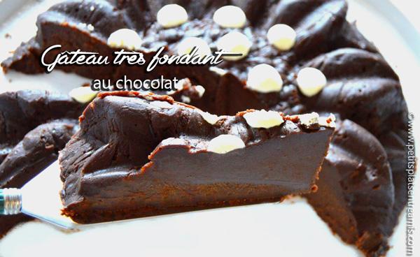 Gâteau très fondant au chocolat