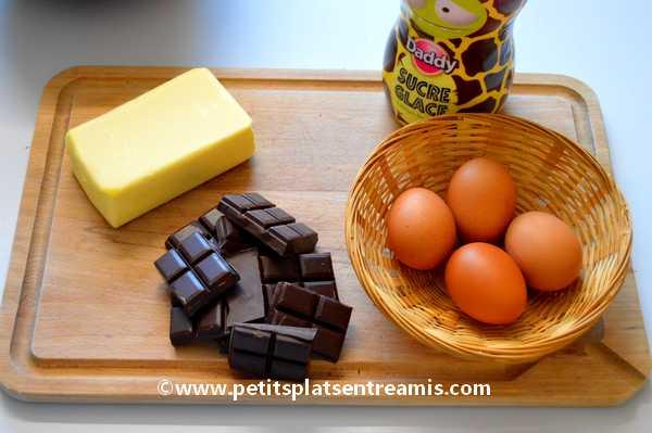 ingrédients gâteau-très-fondant-au-chocolat