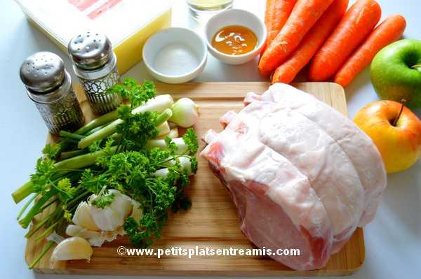 ingrédients pour carré de porc en persillade