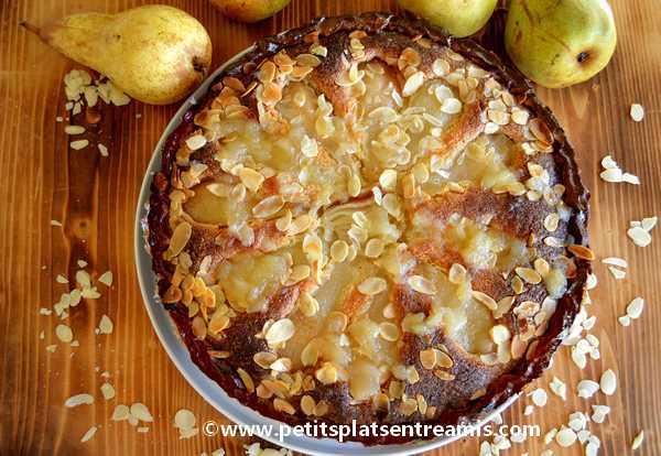 tarte amandine aux poires recette