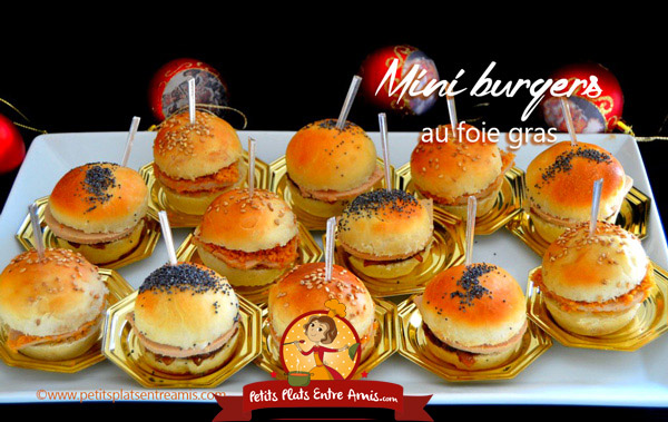 mini burgers au foie gras petits plats entre amis. Black Bedroom Furniture Sets. Home Design Ideas