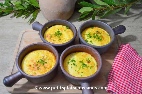 cassolettes de poulet au fromage recette