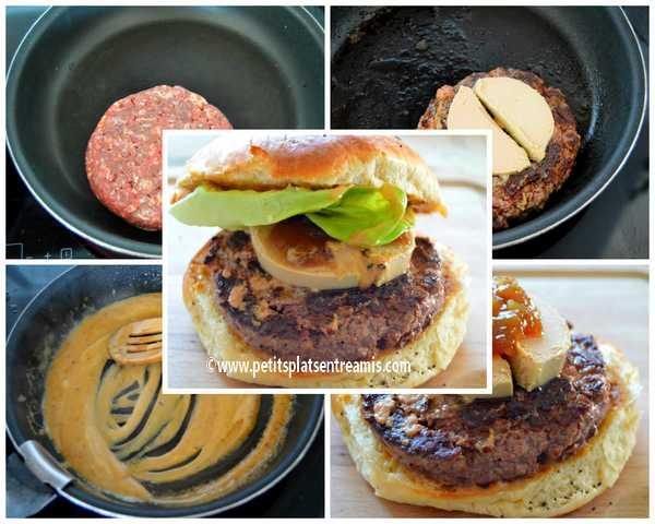cuisson burger au foie gras