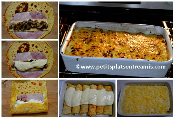 cuisson crèpes gratinées jambon ...