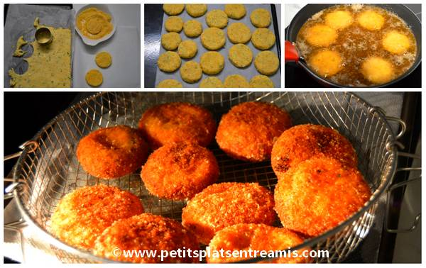cuisson croquettes aux 3 fromages