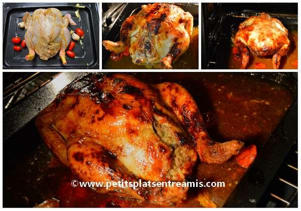 cuisson poulet farci au riz