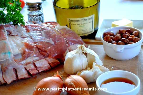ingrédients pour carré d'agneau de prés-salés au Chablis