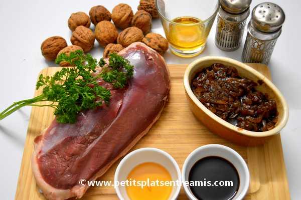 ingrédients pour magret-de-canard-au-confit-d'oignons