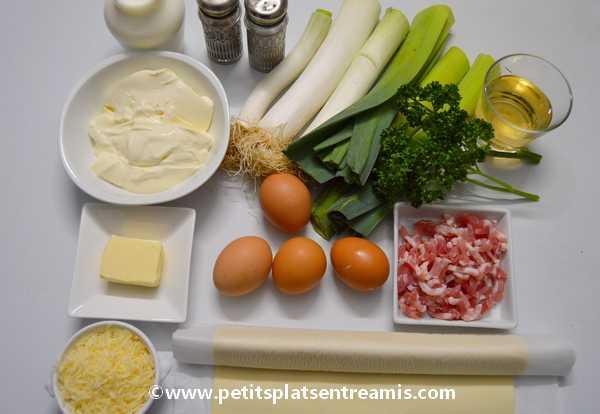 ingrédients tarte paysanne aux poireaux