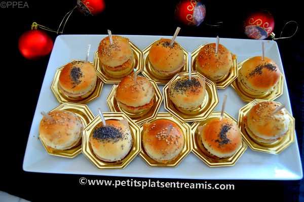 mini burgers au foie gras apéritif