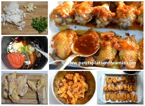 préparation ailerons de poulet laqués