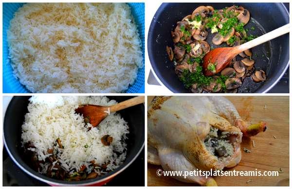 préparation poulet au riz