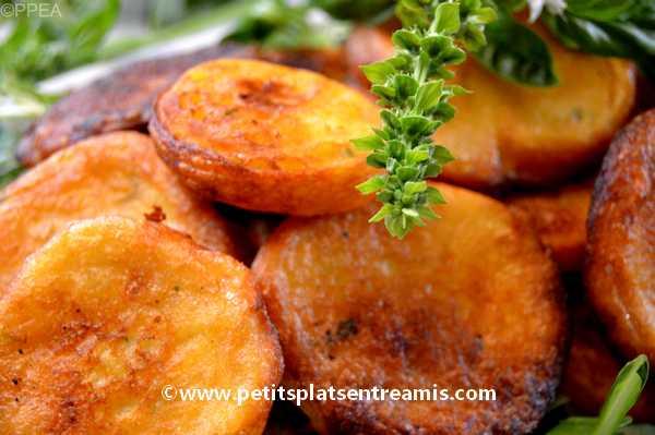 recette galettes de pommes de terre au chèvre et basilic