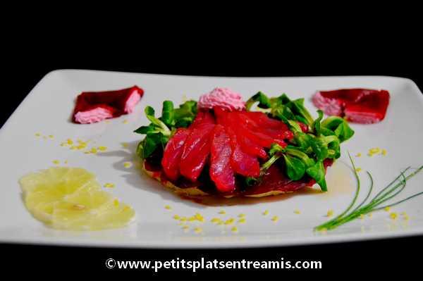 coeur de saumon fumé à la betterave recette