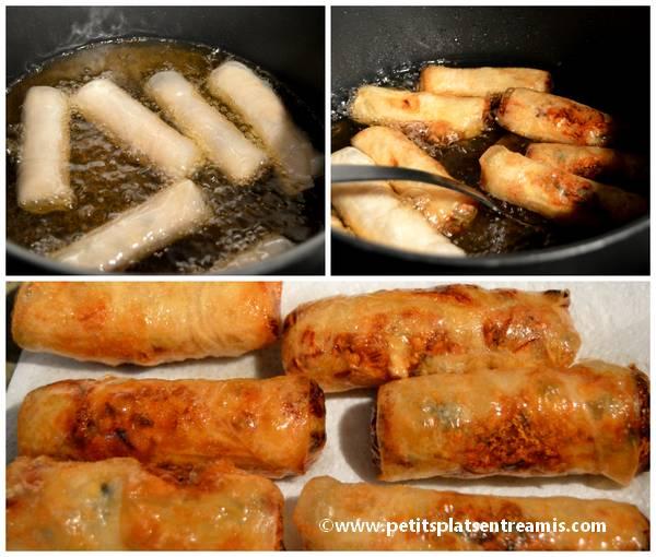 cuisson des nems au poulet