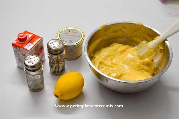 ingrédients petits choux au tarama de cabillaud