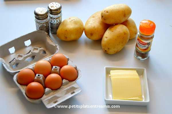 ingrédients pour pommes duchesse