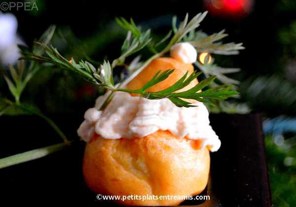 recette petits choux au tarama de cabillaud