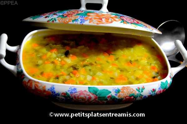 soupe de légumes recette