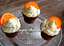 Coupe chocolat et chantilly à l'orange
