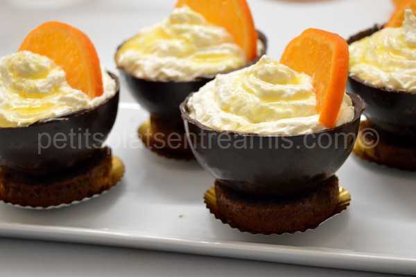 coupe-chocolat-et-chantilly-à-l'orange recette