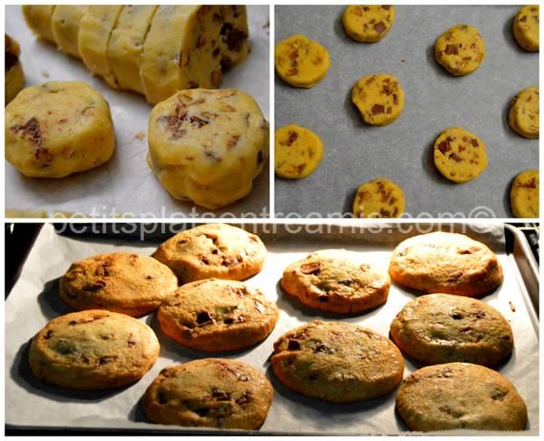 cuisson cookies chocolat et noix de pécan