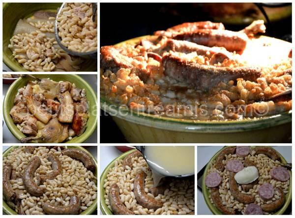 montage et cuisson du cassoulet