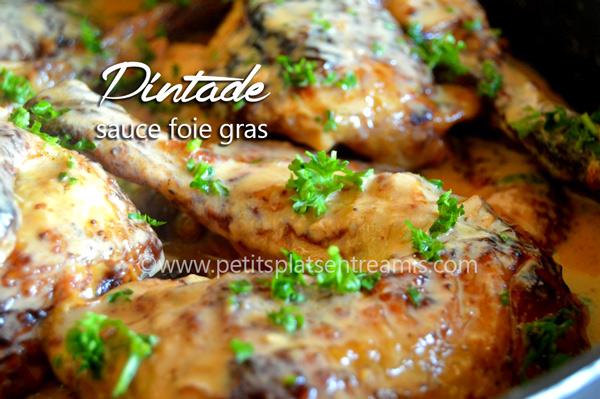 Pintade sauce foie gras
