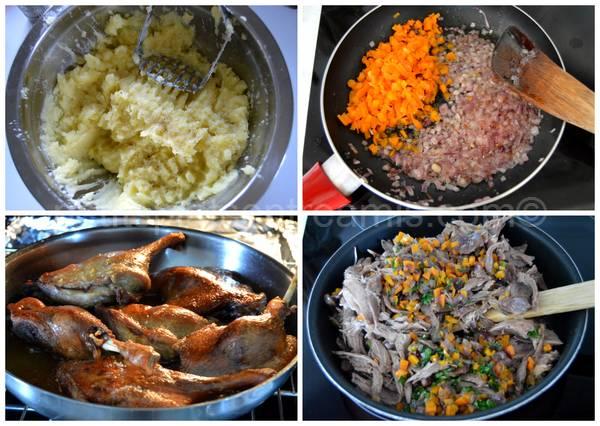 préparation hachis parmentier de canard