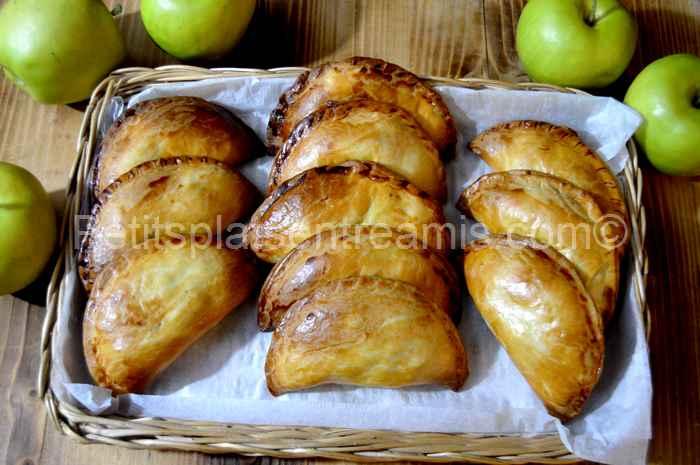 Chaussons sablés aux pommes caramélisées au sirop d'érable recette