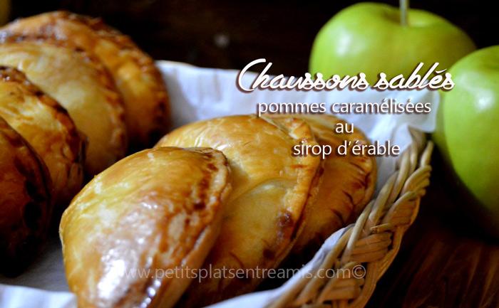 Chaussons-sablés-aux-pommes-caramélisées-au-sirop-d'érable