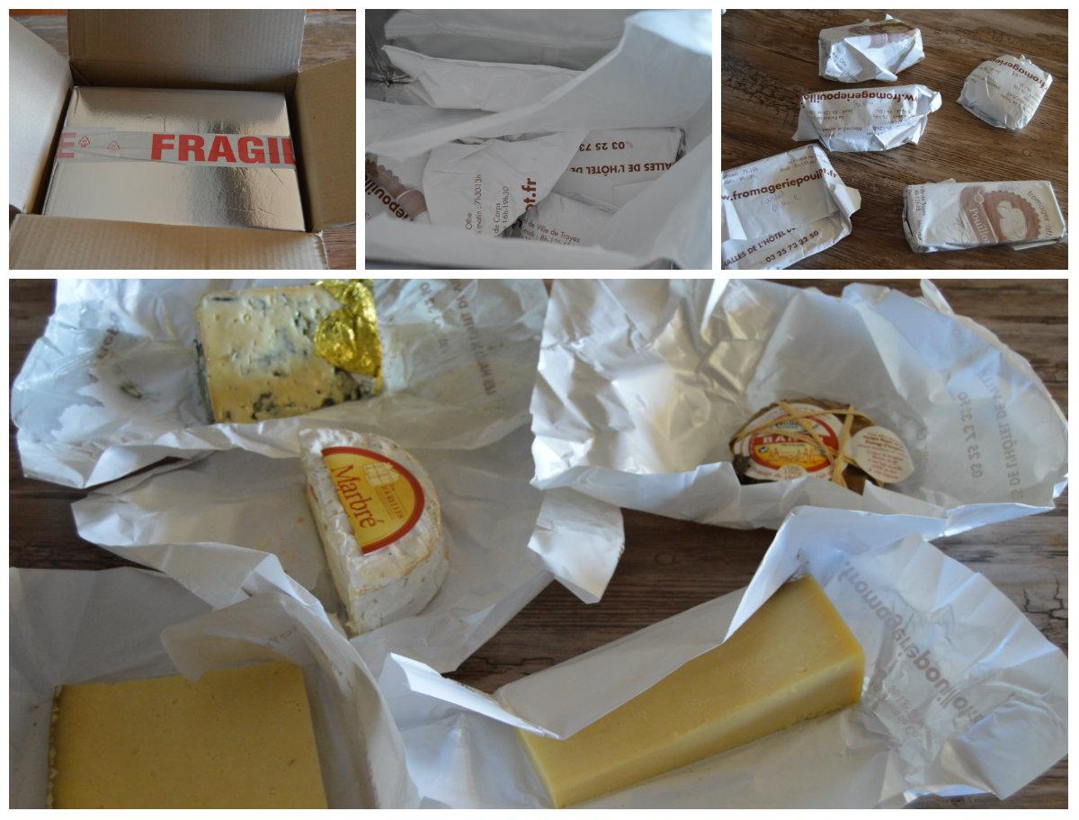 fromages de la fromagerie Pouillot emballés